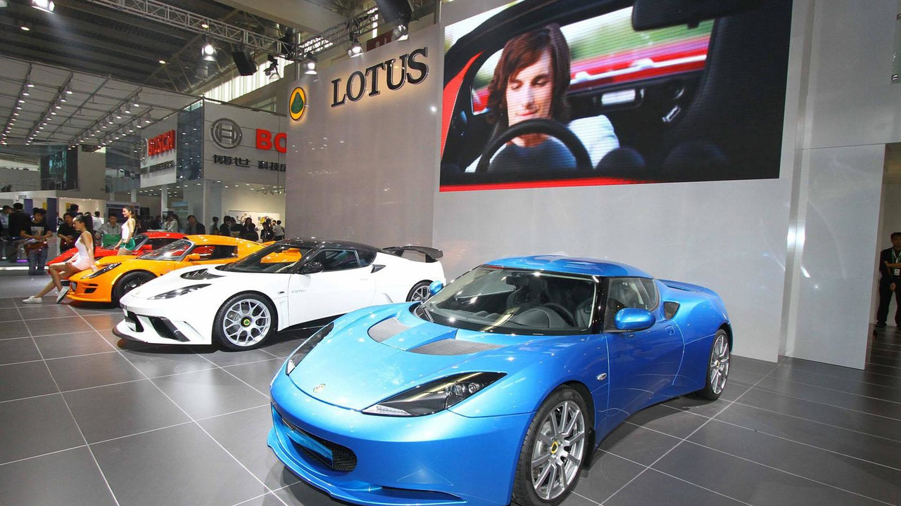Lotus stand at the Beijing Motor Show 25.4.2012