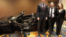 Super Bowl MVP Eli Manning with New Corvette Convertible 05.02.2012