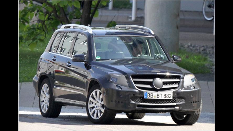 Erlkönig erwischt: Der Mercedes GLK mit geliftetem Gesicht