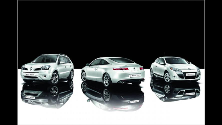 Renaults in Schwarz-Weiß: Night & Day Edition