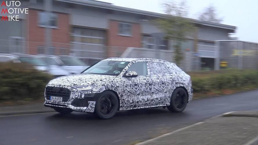 Audi Q8, Nürburgring'de tam gaz giderken görüntülendi