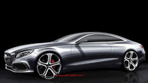 Mercedes-Benz S-Class Coupe concept design sketch (not confirmed) 05.09.2013