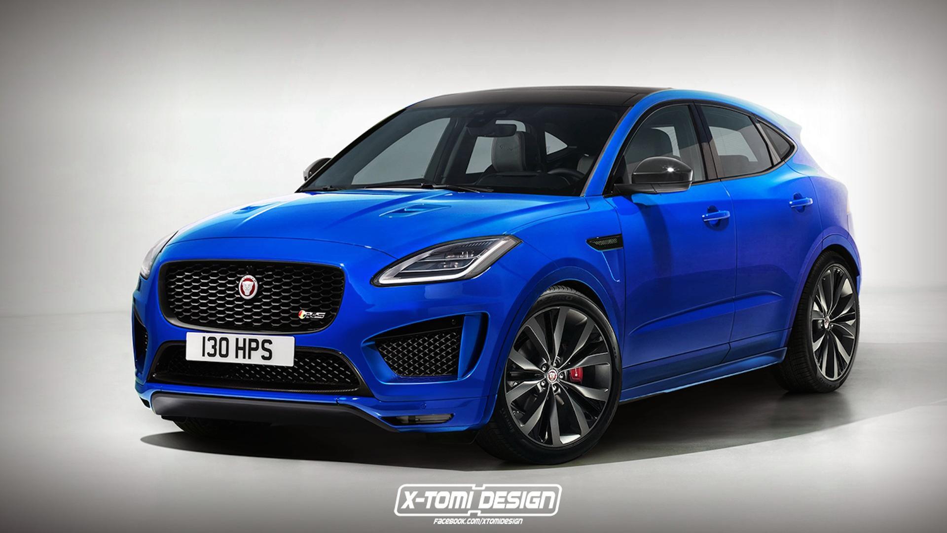 Jaguar e pace rendered in hot r s trim for Interieur jaguar e pace
