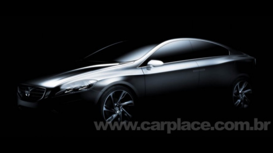 Volvo divulga imagem de conceito que revela como será o novo sedan S60