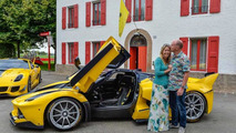 Benjamin and Christine Sloss with Ferrari FXX K