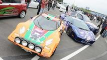 Lamborghini and Lancia Stratos turned into manga cars