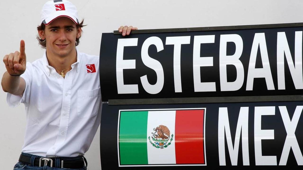 Esteban Gutierrez celebrates winning the GP3 Championship, with the BMW Sauber F1 Team - Formula 1 World Championship, Rd 14, Italian Grand Prix, 12.09.2010 Monza, Italy