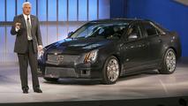 Bob Lutz Unveils 2009 Cadillac CTS-V at Detroit Auto Show