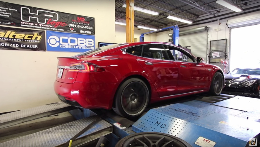 Tesla Model S P100DL+ dyno'ya çıktı