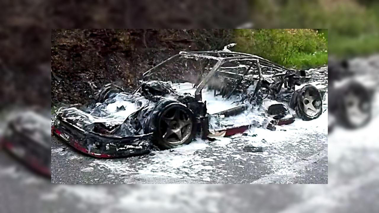 Ferrari F40 prototype fire