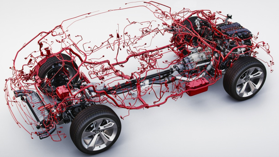 Bentley Bentayga wiring harness is weirdly beautiful