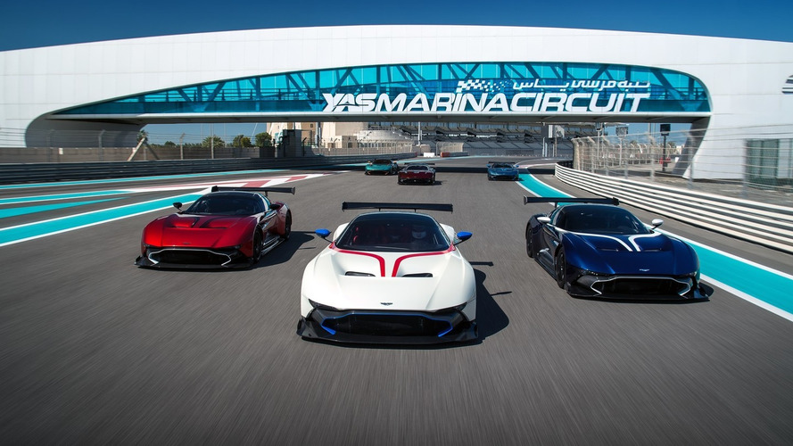 820-hp Aston Martin Vulcan owners hit the track for first time
