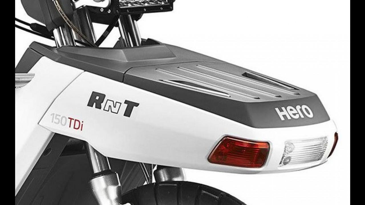 Inusitado: conceito de scooter indiano tem motor a diesel e tração integral