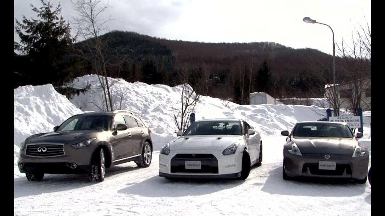 Vídeo: Nissan promove duelo caseiro sobre a neve