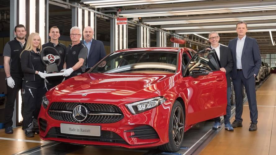 Mercedes yeni A-Serisinin üretimine başladı