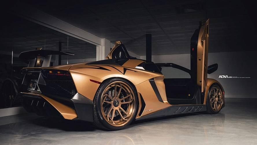 Matte Gold Lamborghini Aventador SV By Empire Auto