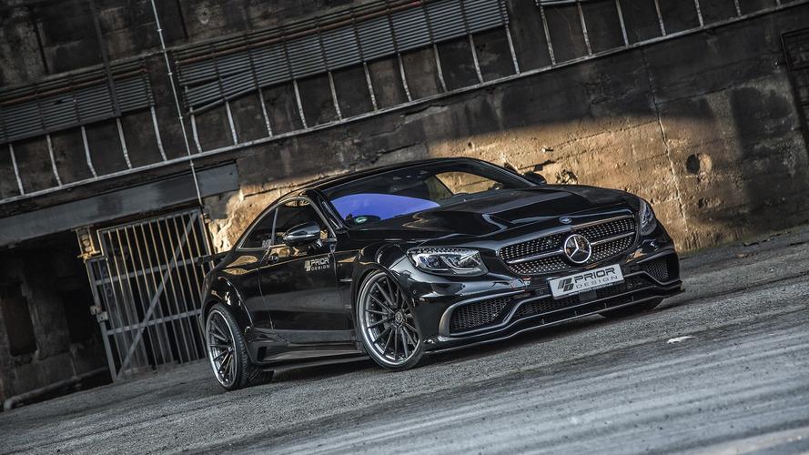 Modifiyeli Mercedes S Sınıfı Coupe çok daha agresif