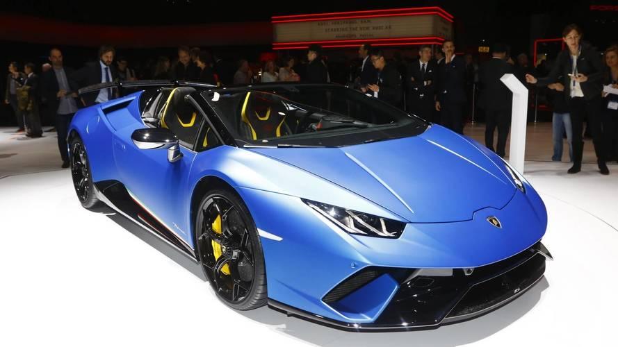 Lamborghini Huracan Performante Spyder at the 2018 Geneva Motor Show