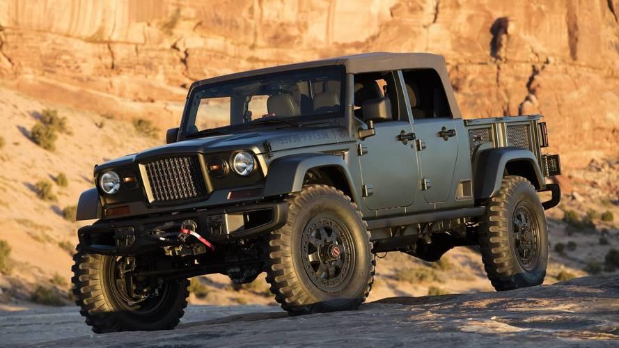 Flagra - Picape Jeep Scrambler terá versão conversível