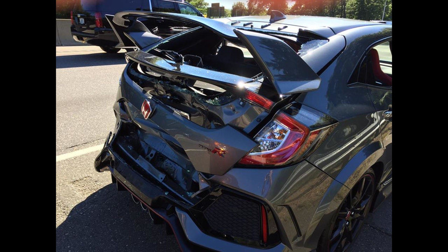 Brand New Honda Civic Type R Didn't Even Make It Home From Dealer