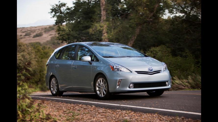 Toyota Prius v, lancio ritardato