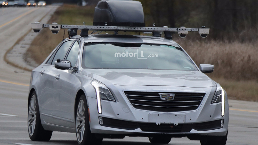 Cadillac CT6 with Super Cruise technology spy photos
