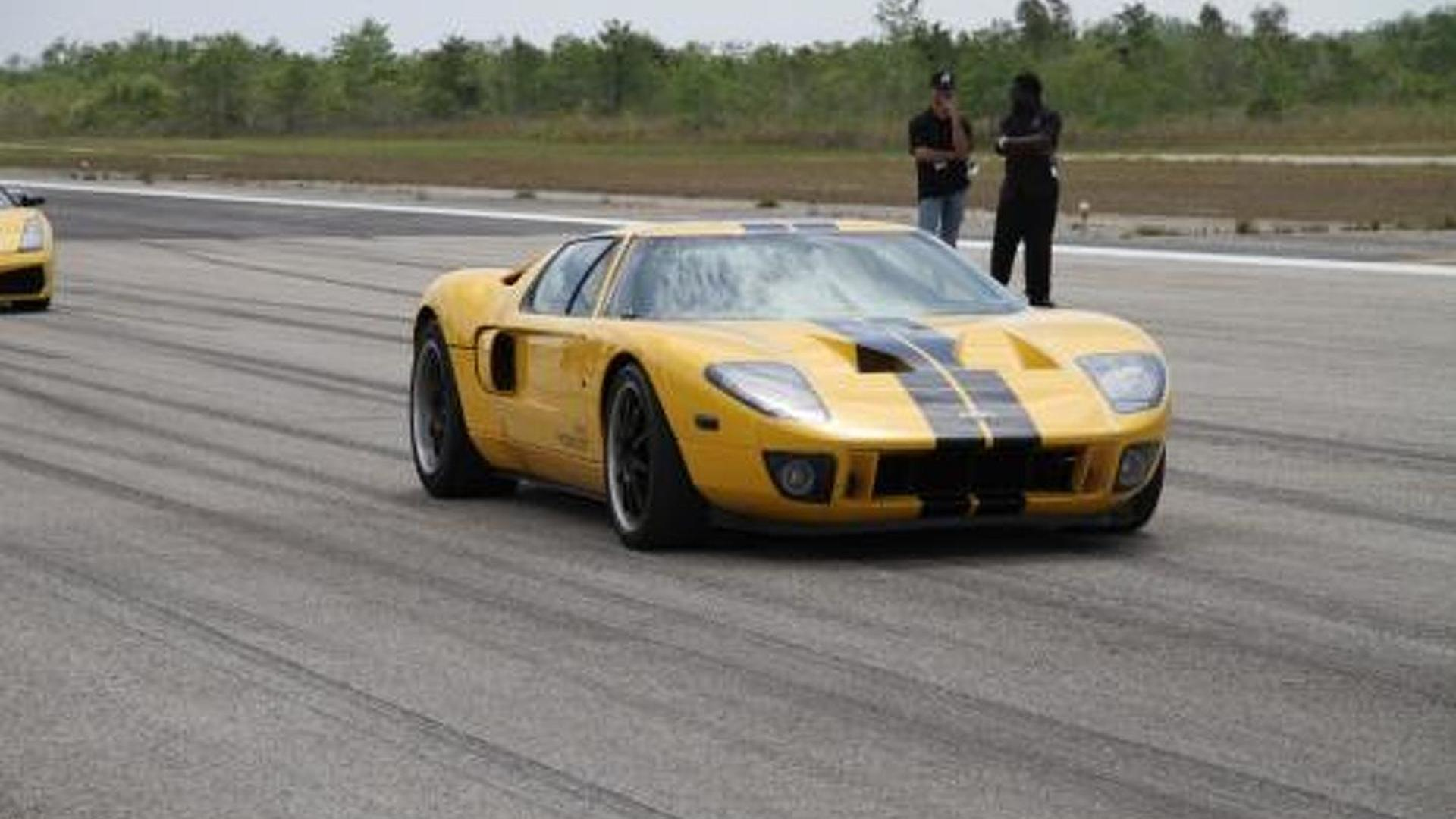 Heffner Ford Gt Allegedly Crushes Standing Mile World Record With   Mph In Miami Video