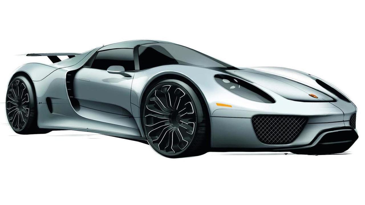 Porsche 918 Spyder design sketch 21.03.2011