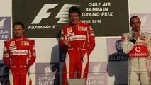 Felipe Massa (BRA), Fernando Alonso (ESP), Lewis Hamilton (GBR), Bahrain Grand Prix, 14.03.2010 Sakhir, Bahrain