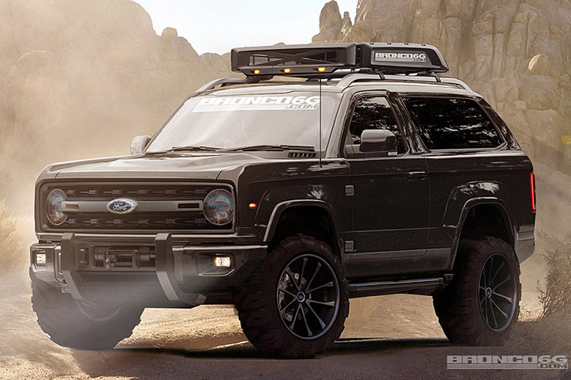 Let's Hope a New Ford Bronco Really Looks This Mean
