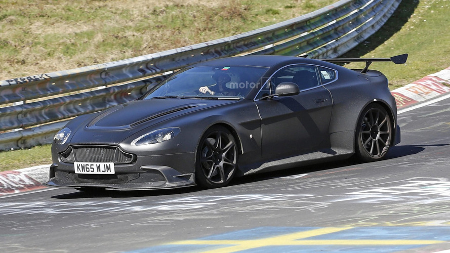 Aston Martin Vantage GT8 looks right at home on the Nordschleife