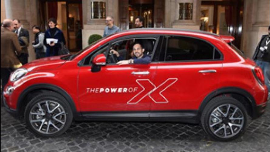 Fiat 500X fa da assistente a Dynamo nel suo spettacolo di magia