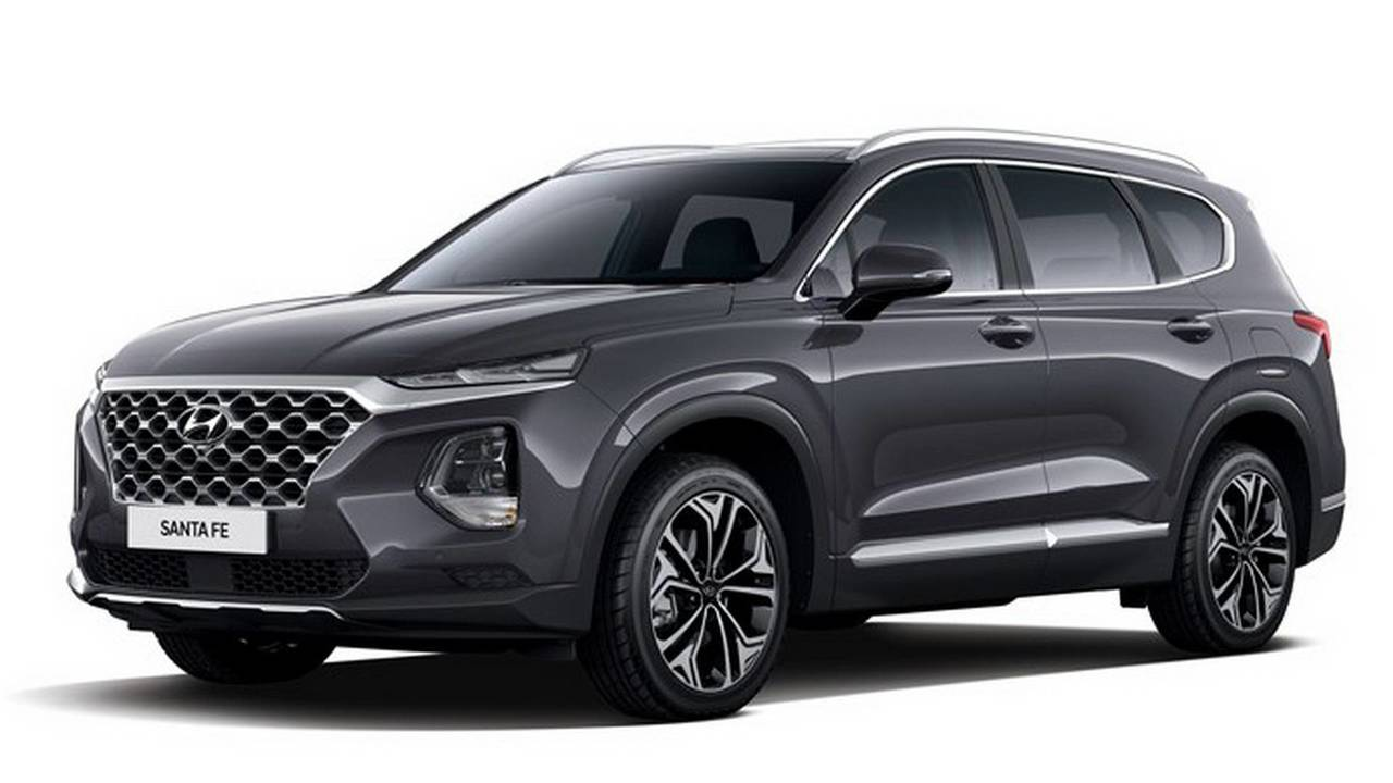 2019 hyundai santa fe first official images are out update. Black Bedroom Furniture Sets. Home Design Ideas