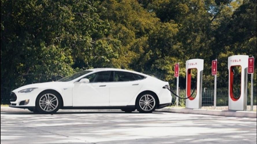 Tesla Supercharger, stop alla ricarica gratis dal 2017