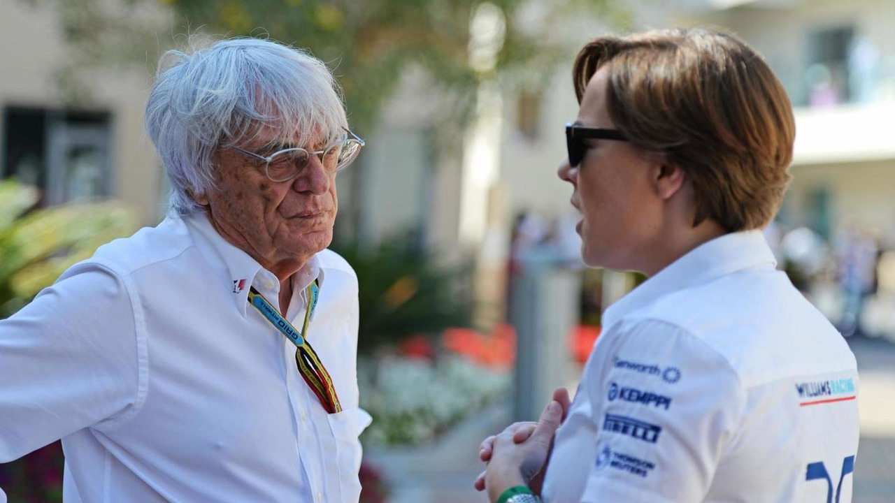 Bernie Ecclestone (GBR) with Claire Williams (GBR) / XPB Images