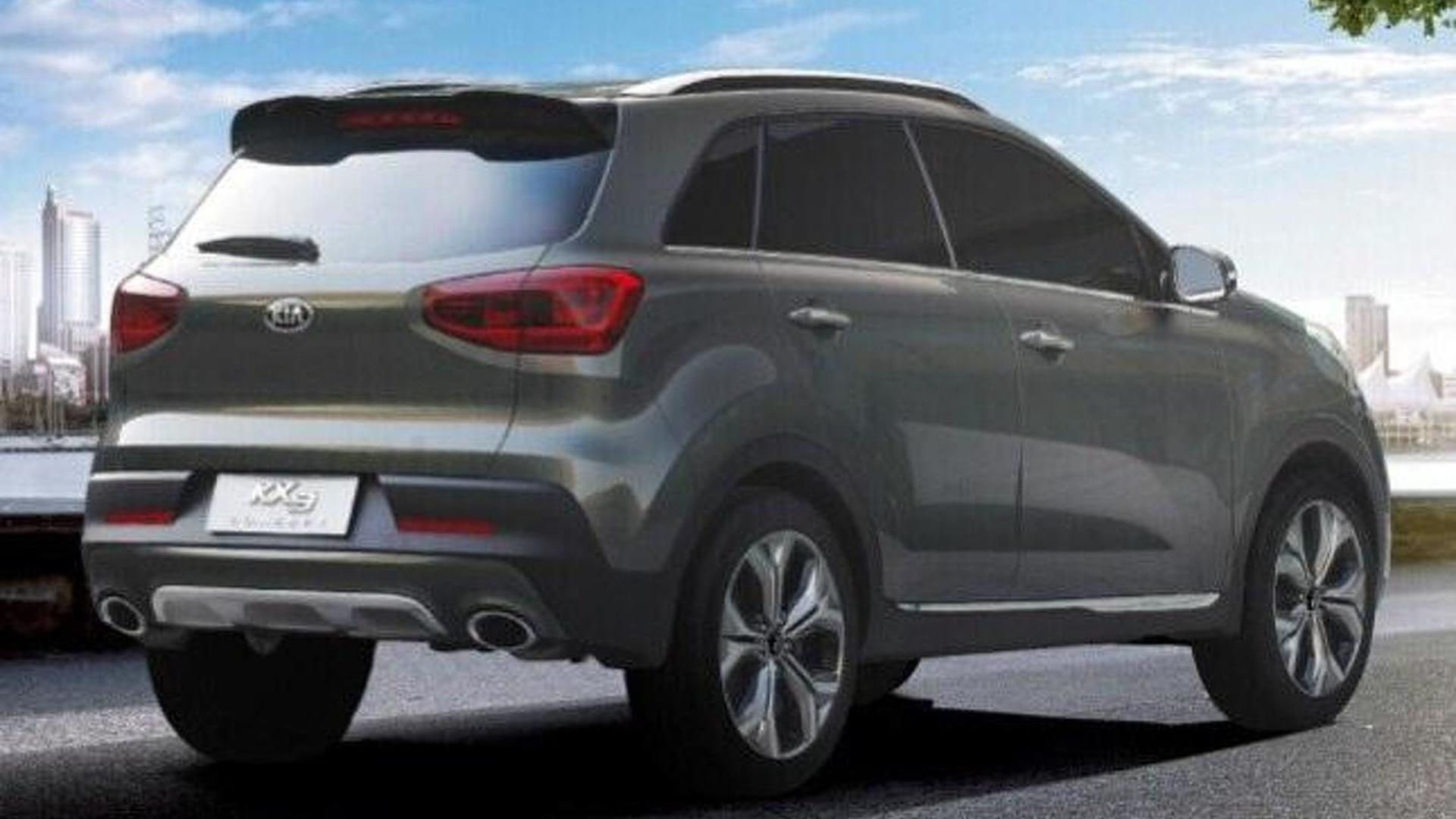 Kia KX3 concept leaked to debut in Guangzhou