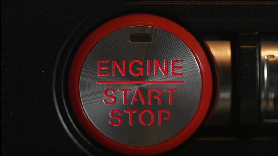 Ford Mustang'e yanıp sönen start-stop düğmesi