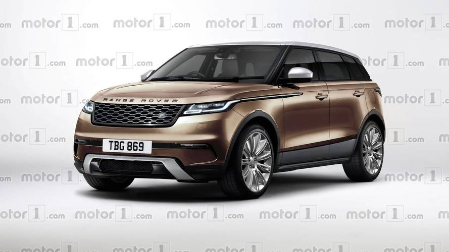 2019 range rover evoque render tries to predict the baby velar. Black Bedroom Furniture Sets. Home Design Ideas