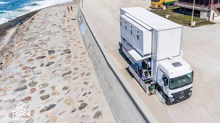 Mercedes Actros Turned Into Rolling 2-Story Hotel