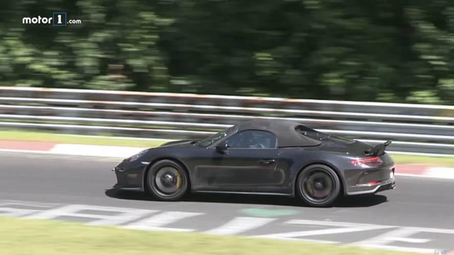 Porsche 911 Speedster Nürbrugring'de hız yaparken görüldü