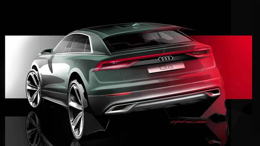 Audi Teases Q8 With Sketching Of Its Angular Rear End