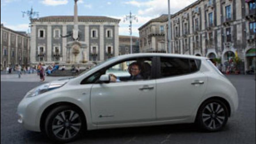 Una Nissan Leaf per il sindaco di Catania