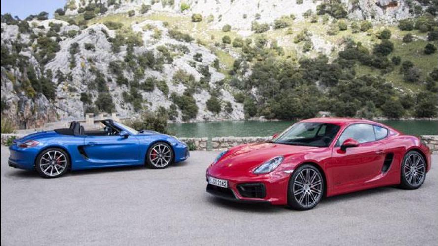 Porsche, quattro cilindri turbo su Boxster e Cayman