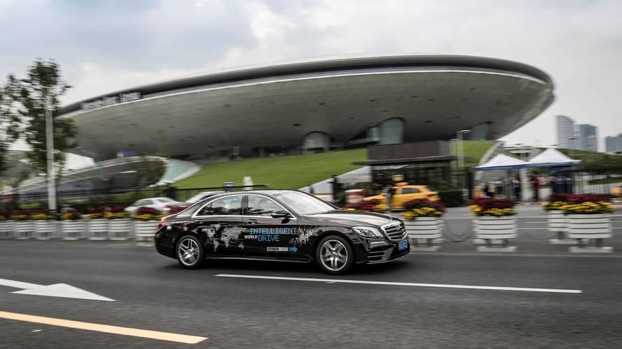 Autonomous Mercedes S-Class Hits Shanghai