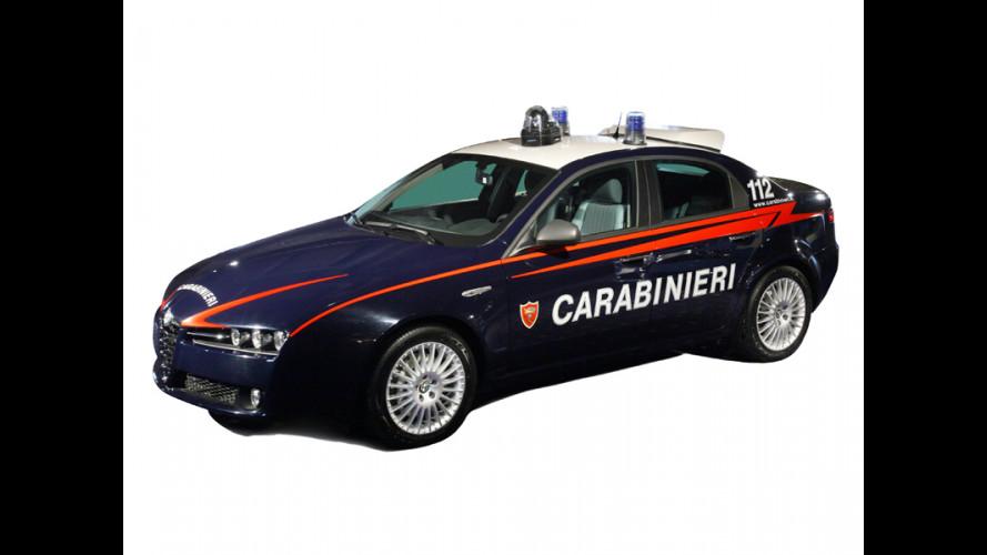 La nuova Alfa 159 per Polizia e Carabinieri