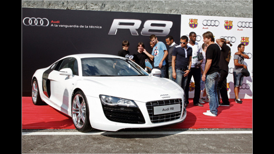 Neue Autos für Messi & Co.: Der FC Barcelona fährt Audi