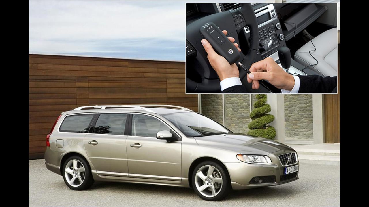 Volvo mit Alkohol-Tester