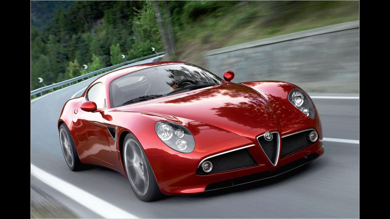Fünf Exemplare: Alfa Romeo 8C Competizione