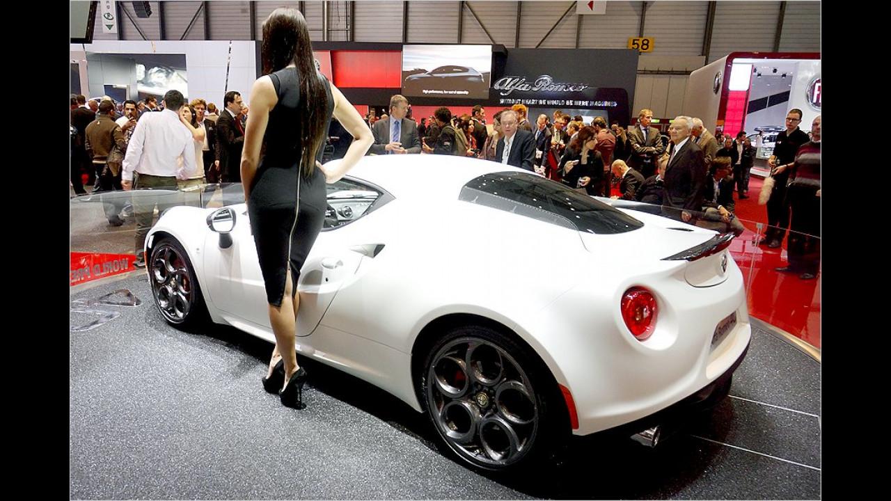 Von wohlgeformten Rundungen wird nicht nur der Alfa 4C geprägt