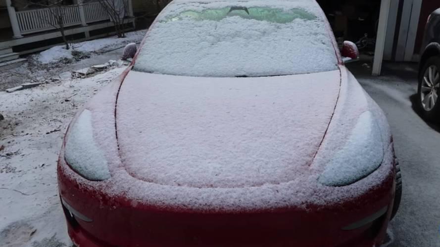 See How Ice Wins Versus Tesla Model 3